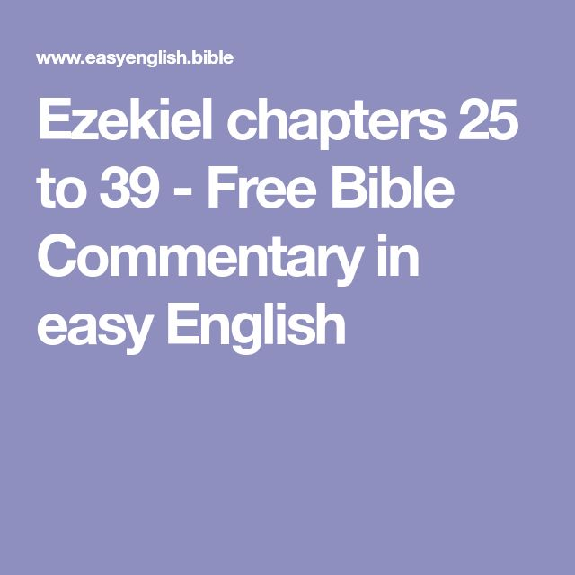 Ezekiel chapters 25 to 39 - Free Bible Commentary in easy English