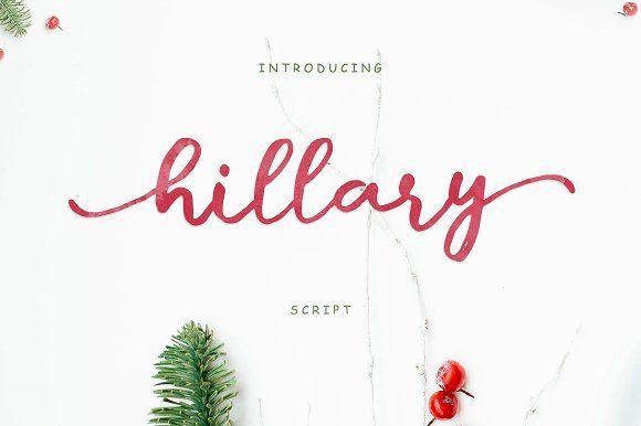 Hillary Script by Siwox Studios on @creativemarket