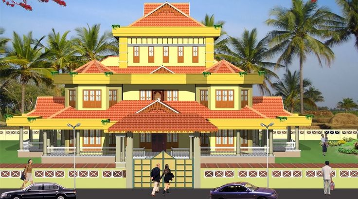 Evens construction pvt traditional kerala house elevation for Colonial style homes in kerala