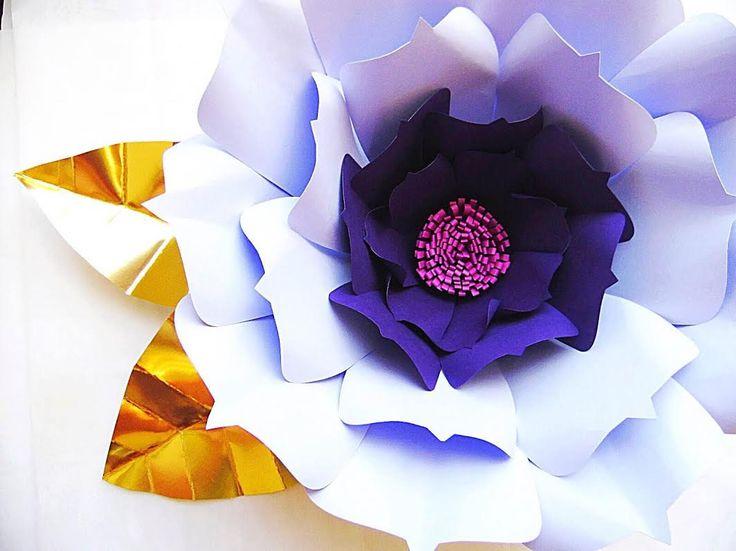 BRICOLAJE gigante hecho a mano papel de telón de fondo flores