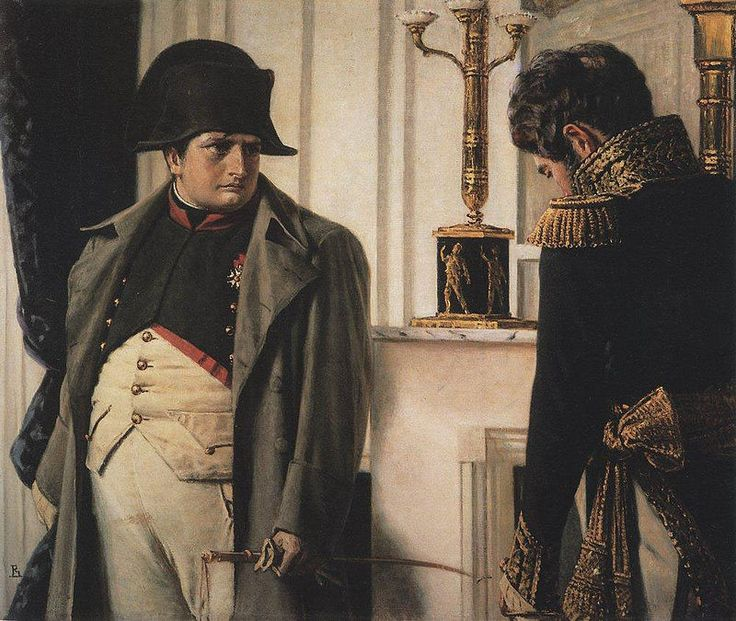 Napoléon and General Lauriston — Peace at all costs! by Vasily Vereshchagin.- French invasion of Russia -