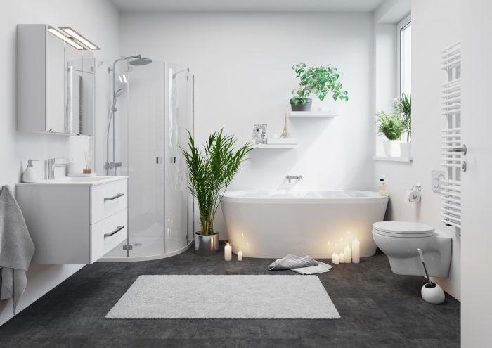 salle de bain blanche moderne salle