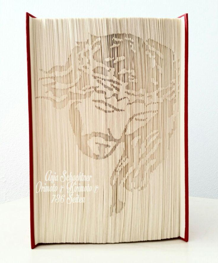 Kirimoto ® Jesuskopf Orimoto Vorlage | Book Folding Art ...