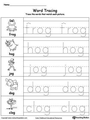 word tracing og words homework tracing worksheets. Black Bedroom Furniture Sets. Home Design Ideas