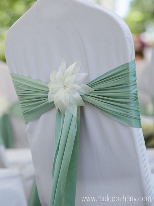 Mint wedding chair decor