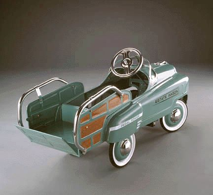 find this pin and more on ffc christmas december events vintage green estate wagon kids pedal car