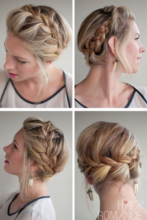 Pretty Braided Crown Hairstyle Tutorials and Ideas 2