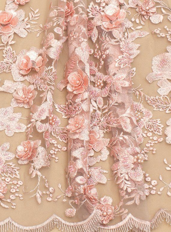 leaves shape Quality lace fabric 3D big flower lace fabric White French tulle lace fabric