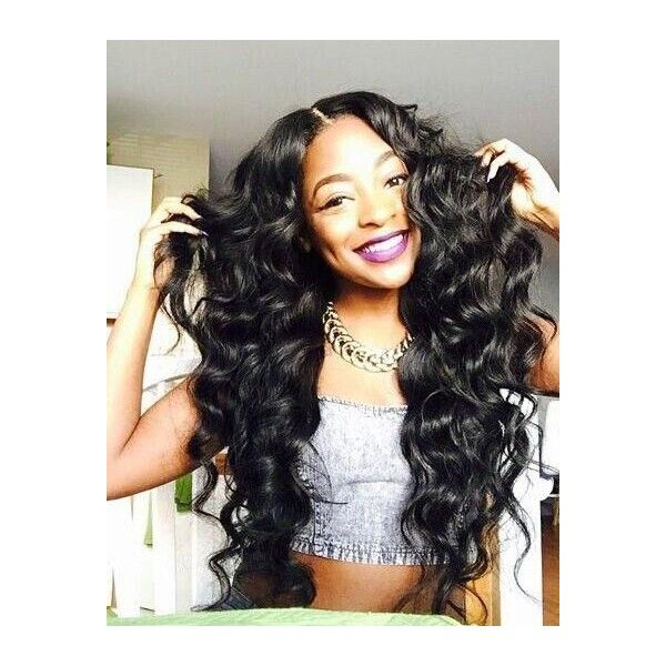 6A Malaysian Virgin Hair Deep Wave ❤ liked on Polyvore featuring beauty products, haircare and hair