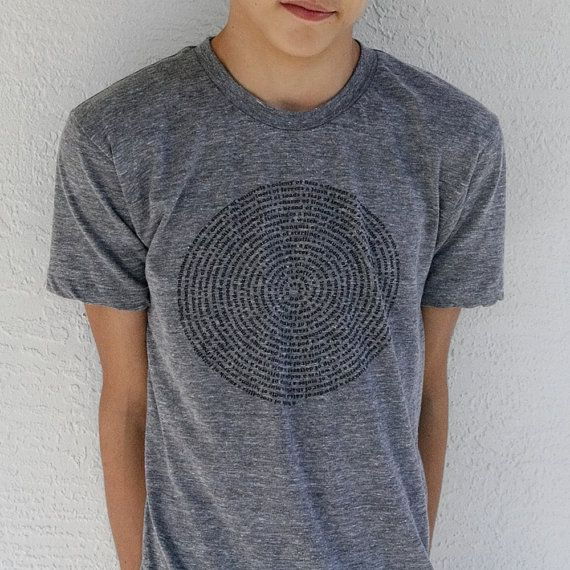 Mens t shirt Small to XL - animal shirt, summer fashion - American Apparel heather grey tshirt Animal Collective Nouns on Etsy, $26.86 CAD