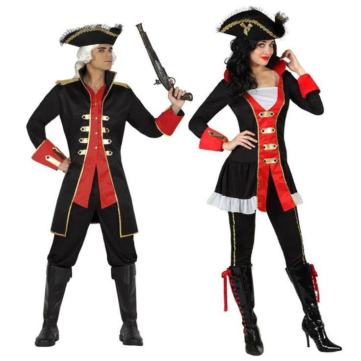 Pareja disfraces de capitanes piratas parejas disfraces for Disfraces caseros adultos