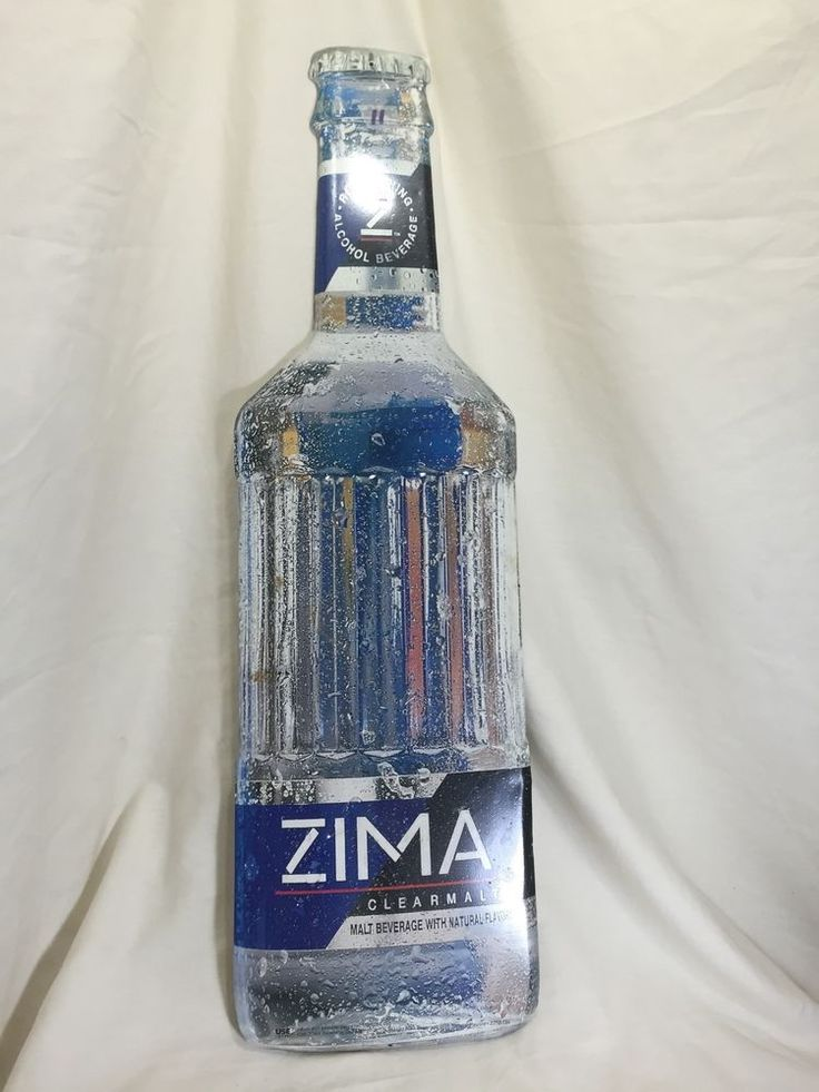 Vintage 1995 Zima Clearmalt Alcohol Beverage Beer Tin Sign Decor Man cave