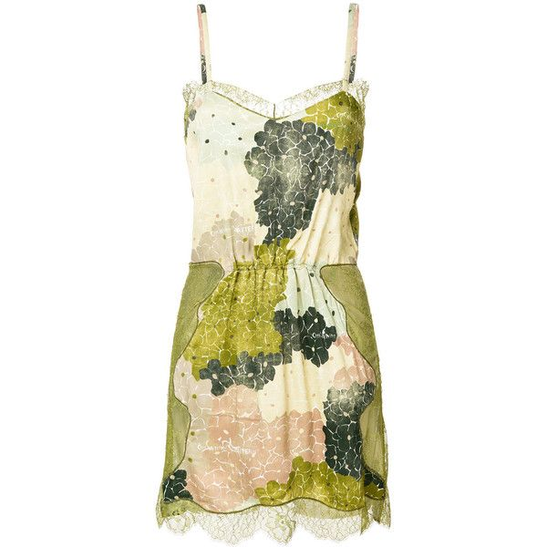 Off-White lace short dress (5289590 PYG) ❤ liked on Polyvore featuring dresses, green, champagne lace dress, floral lace dress, mini dress, lace dress and green dress