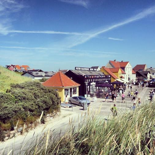 Nice view of Løkken seen from the beach