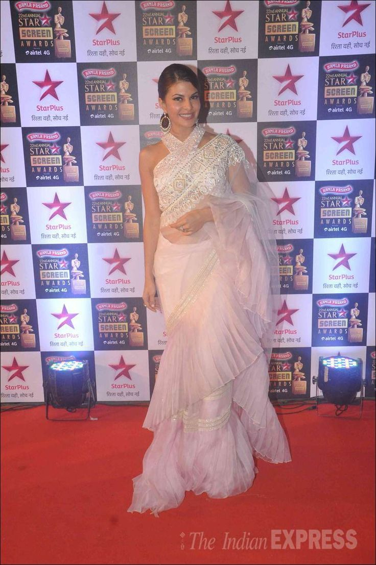 Jacqueline Fernandez at the #StarScreenAwards. #Bollywood #Fashion #Style #Beauty