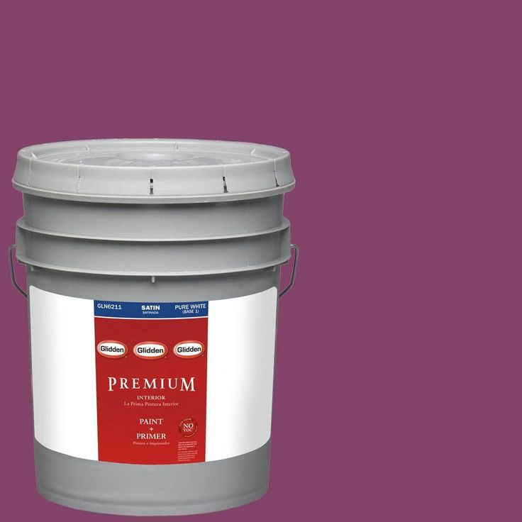 Glidden Premium 5-gal. #HDGR08 Bright Black Raspberry Satin Latex Interior Paint with Primer