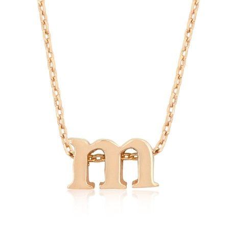 Rose Gold Letter M Necklace! #InspiredSilver #Necklace #letterNecklace