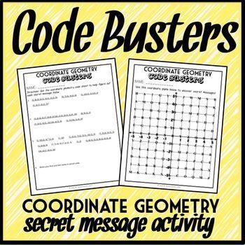 Coordinate Geometry Code Busters, Four Quadrant Coordinate Plane Activity