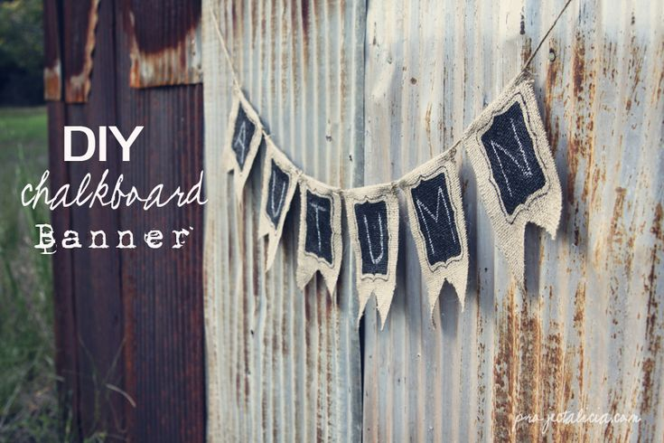 DIY Chalkboard Banner. Perfect for decorating or photo shoots! Just erase and reuse!