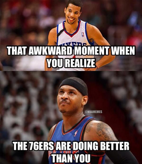 Philadelphia 76ers and New York Knicks.#Sixers #Tanking - http://nbafunnymeme.com/nba-memes/philadelphia-76ers-and-new-york-knicks-sixers-tanking