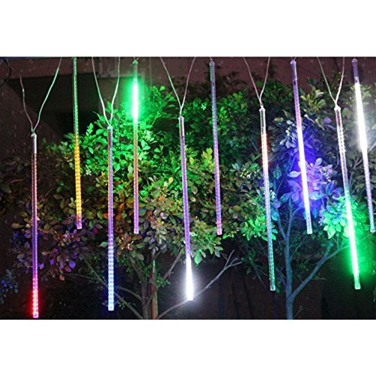 Bestface 30cm 144 LED Meteor Shower Rain Lights Waterproof 8 Tubes Icicle Snow Fall String Lights for Xmas Tree Home Garden Outdoor Decorations (Colorful) * Read more reviews of the product by visiting the link on the image. (This is an affiliate link) #LightingCeilingFans