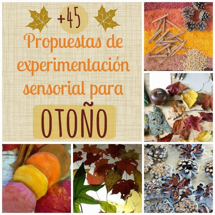 Recursos: +45 Propuestas manipulativas y sensoriales para otoño.