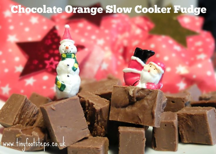 Chocolate Orange Slow Cooker Fudge Recipe