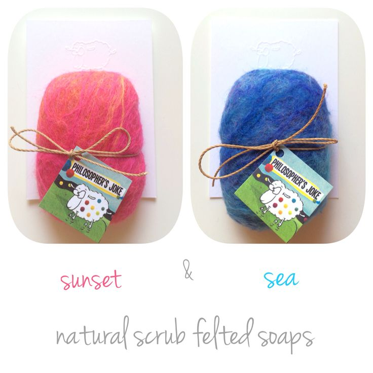 Sunset & Sea. Natural scrub felted soaps inspired by greek summer!