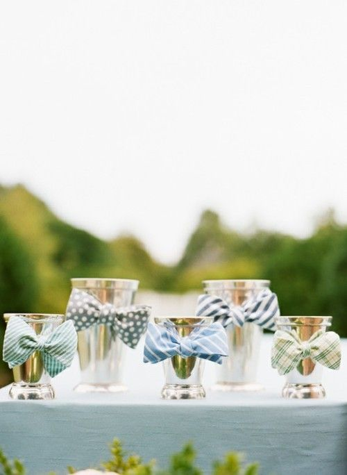 fun bow tie julep cups for a kentucky derby party- or cute for baby boy baby shower Centerpieces bow tie theme! (B)
