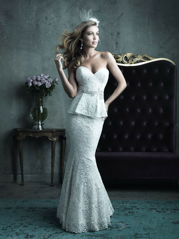 High Glamour from Allure Bridals  Read more - http://www.stylemepretty.com/2013/11/21/allure-couture-spring-2014-collections/