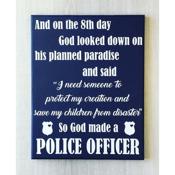 Police Officer Sign / Police Sign / Police Officer Gift / Police Badge / Police Officer Home / Police Family Sign / Cop Sign / Policeman