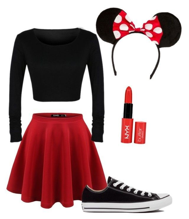 """Minnie Mouse costume!"" by livvie47 on Polyvore featuring Converse"
