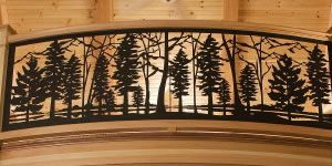 Custom #railing or standard designs available for your balcony, deck or porch.  Metal railing panel inserts that are powder coated in your choice of colors.  www.NatureRails.com