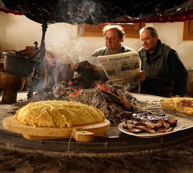 Polenta and friends (polenta, something I just have never liked..)