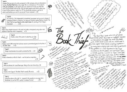 best the book thief assignment images the book the book thief activities pdf