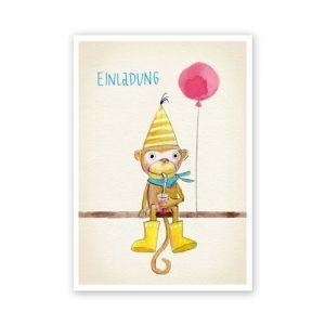 Süße Einladungskarten zum Kindergeburtstag gezeichnet und herausgegeben von Katrina Lange