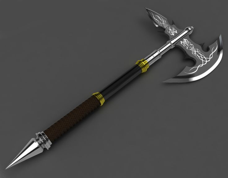 Legendary Battle Axe Cool Gothic Design Weaponry