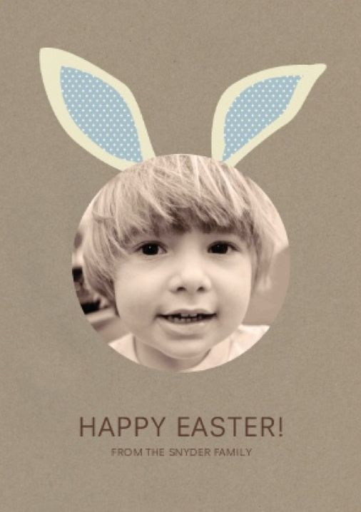 Une idée de carte pour Pâques vraiment sympa et rigolote.
