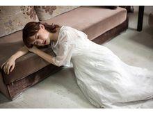 Half mouwen kant vlinder borduren lange middeleeuwse kleding renaissance gown prinses victoriaanse jurk(China)