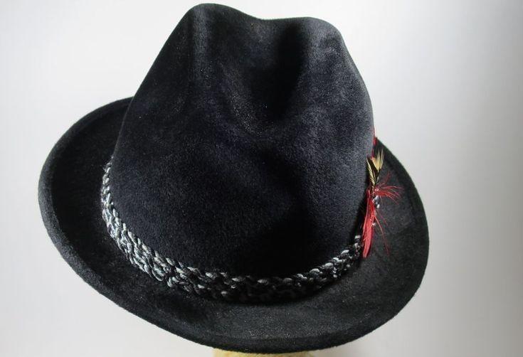 Vintage The Sovereign by Stetson Fedora Felt Hat Black  #Stetson #Fedora