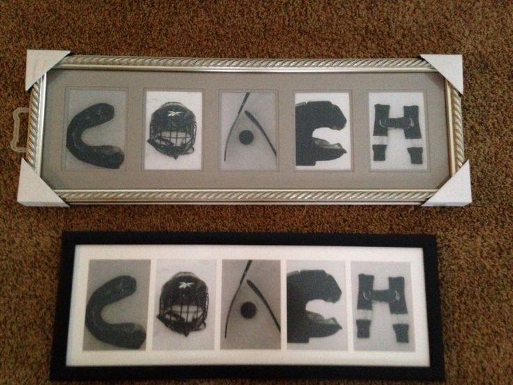 Hockey Coaches gift I made.  :)