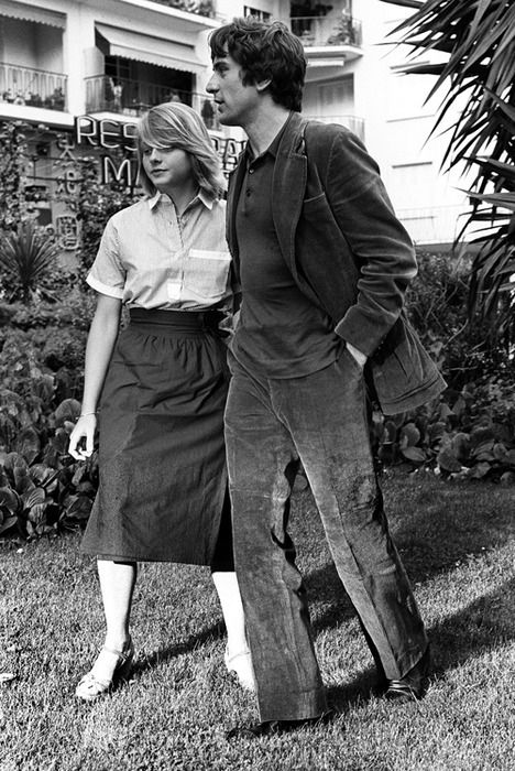 Jodie Foster and Robert DeNiro at the Cannes Film Festival in 1976 for Taxi Driver