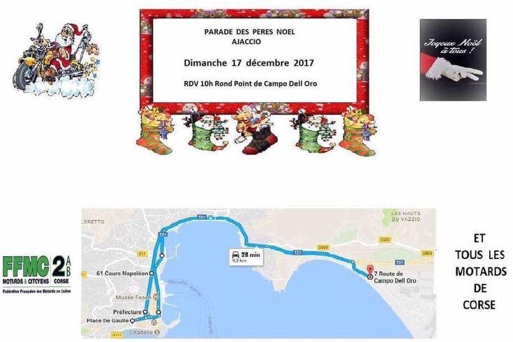 Date : 17 décembre 201711:00 Catégorie Fêtes Lieu : Ajaccio Adresse : ville Ville : AjaccioRégion : Ajaccio Carte en bas de page Dimanche 17 décembre 2017 – 7 route de campo Dell Oro – Ajaccio – Corse Du Sud La parade des mères et pères Noël 2017 en moto pour la Corse-du-Sud aura lieu