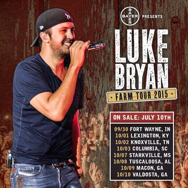REJOICE! LUKE BRYAN ANNOUNCES 2015 FARM TOUR DATES #LukeBryan #FarmTour #CountryMusic
