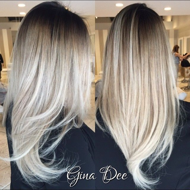 Beautiful contrast balayage✨#hair #pretty #love #blonde #contrast #amazing…