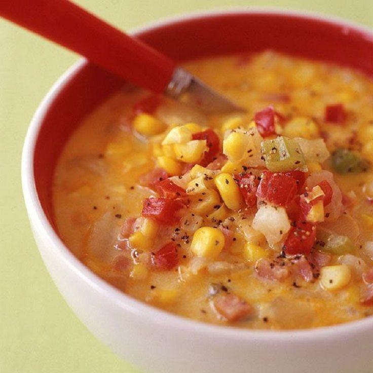 Weight Watcher Corn, Bacon and Potato Chowder
