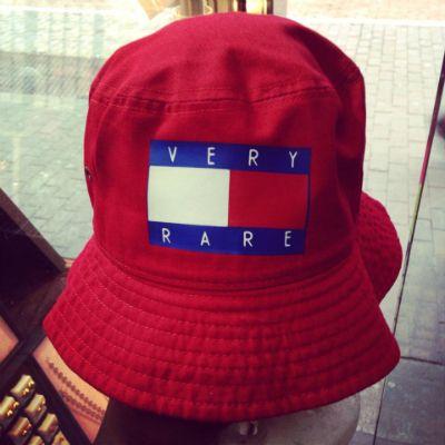 Very Rare Red Bucket Hat   Petahjay's Closet