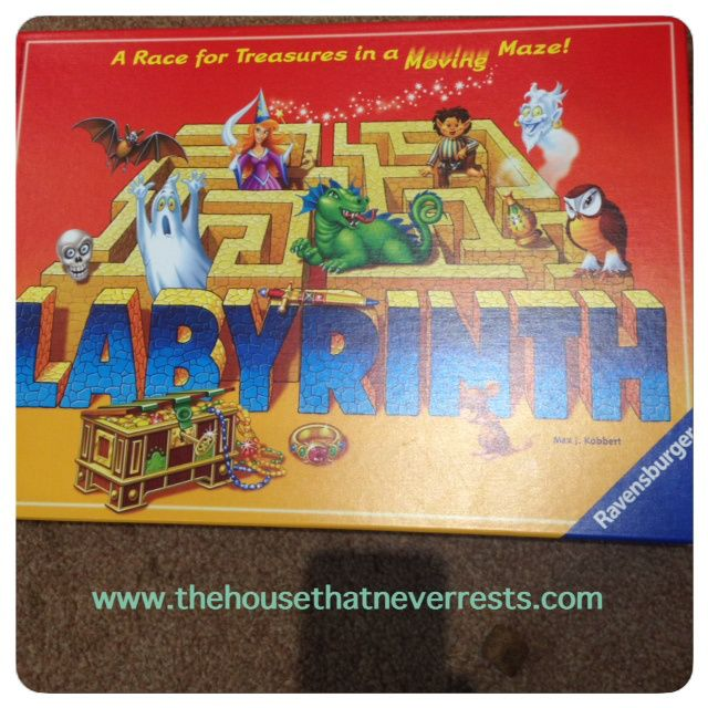 Labyrinth board game by Ravensburger http://thehousethatneverrests.com/2014/09/labyrinth-board-game-ravensburger.html