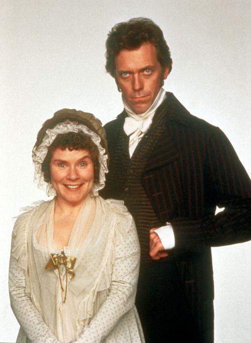 Imelda Staunton & Hugh Laurie - Mrs. and Mr. Palmer, Sense and Sensibility (1995) They look INSANE!