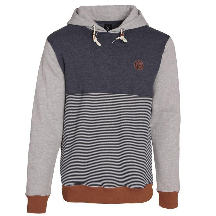 Sudadera/Sweatshirt/hooded/Mens Volcom Threezy Pullover Navy Street Skate Urban